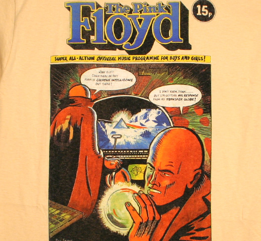 Pink Floyd / Dark Side Of The Moon Comic Book Programme Tee (Gold)