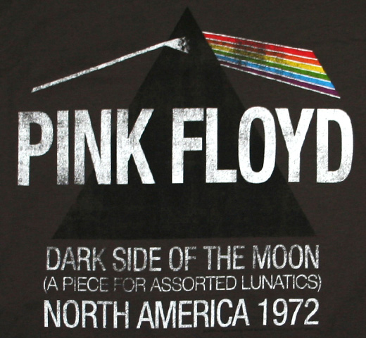 Pink Floyd / North America 1972 Tee (Distressed / Charcoal)