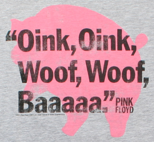 Pink Floyd / Animals Oink Woof Tee (Heather) (Womens)