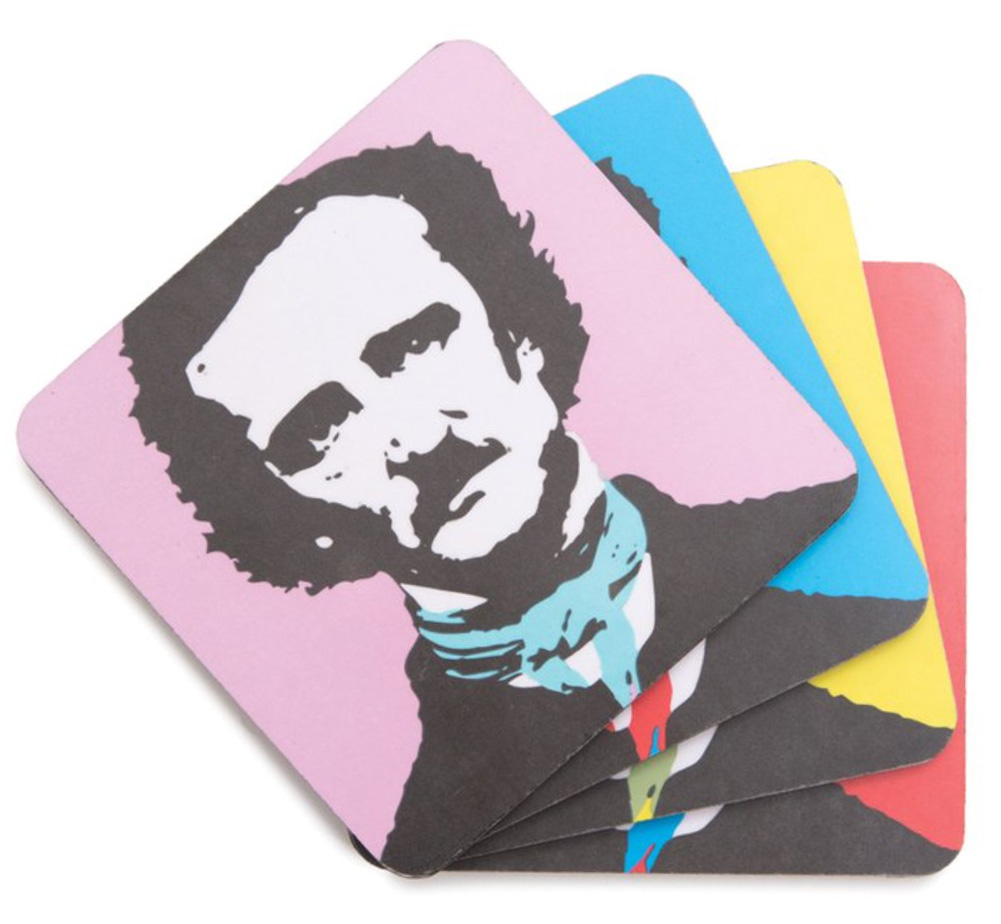【Out of Print】 Edgar Allan Poe / Pop Poe Coaster Set