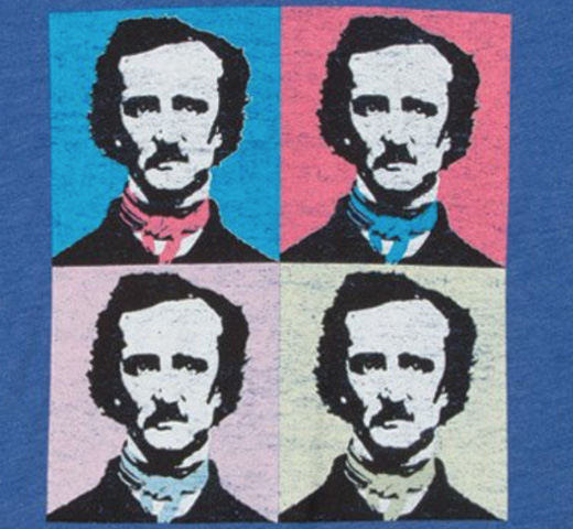 【Out of Print】 Edgar Allan Poe / Pop Poe Scoop Neck Tee (Vintage Royal) (Womens)