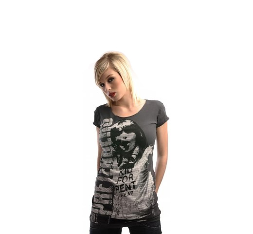 【Amplified】 Pretenders / Chrissy Hynde Tee (Charcoal) (Womens)