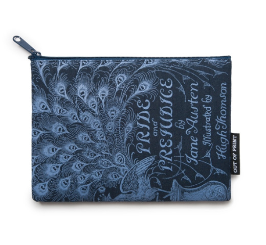【Out of Print】 Jane Austen / Pride and Prejudice Pouch (Navy)
