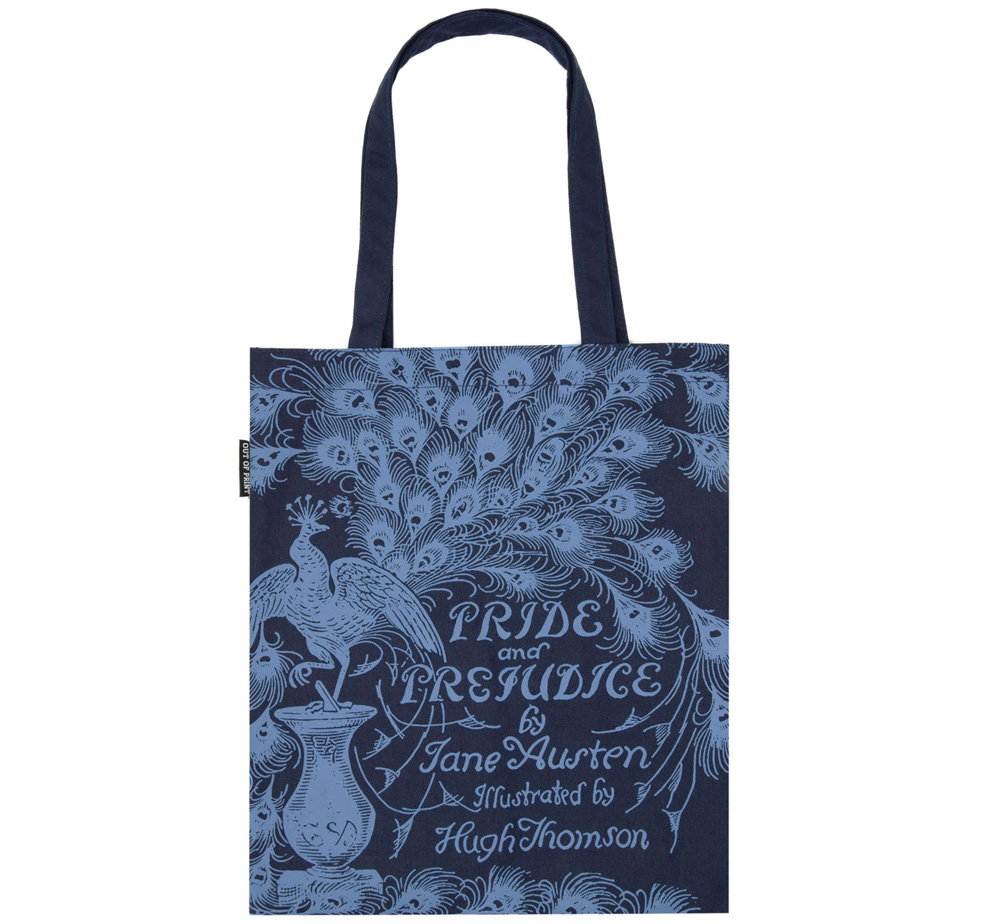 [Out of Print] Jane Austen / Pride and Prejudice Tote Bag 2 (Navy)