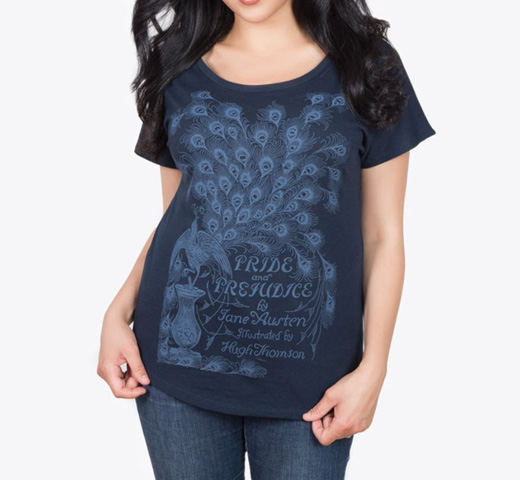 【Out of Print】 Jane Austen / Pride and Prejudice Dolman Tee (Midnight Navy) (Womens)