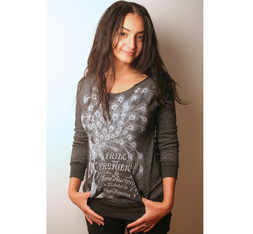 【Out of Print】 Jane Austen / Pride and Prejudice Fleece (Black Heather) (Womens)