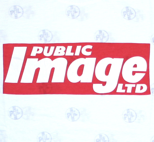 【Worn By】 Public Image Ltd / Newspaper Logo Tee (White)