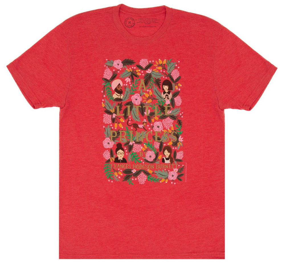 [Out of Print] Frances Hodgson Burnett / A Little Princess Tee [Puffin in Bloom] (Vintage Red)