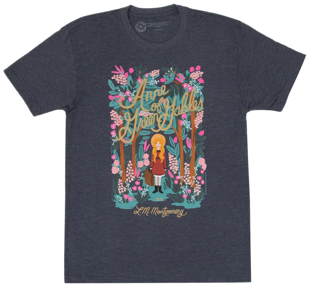 [Out of Print] L. M. Montgomery / Anne of Green Gables Tee [Puffin in Bloom] (Vintage Navy)