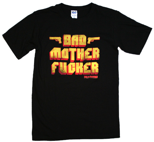 Pulp Fiction / BAD MOTHER FxxCKER Tee (Black)