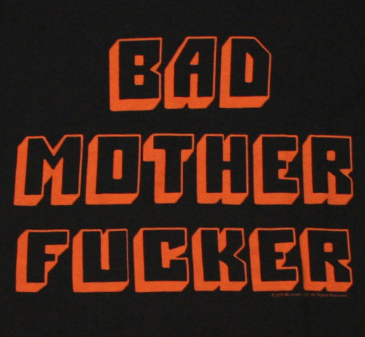 Pulp Fiction / BAD MOTHER FxxCKER Tee 2 (Black)