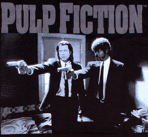 Pulp Fiction / Jules and Vincent Tee 2 (Black)