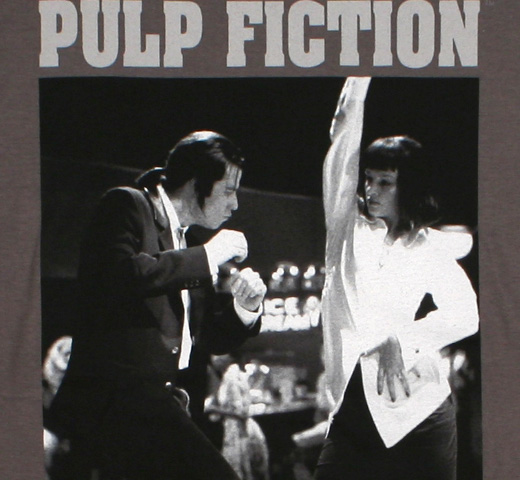 Pulp Fiction / Vincent & Mia Tee (Charcoal)