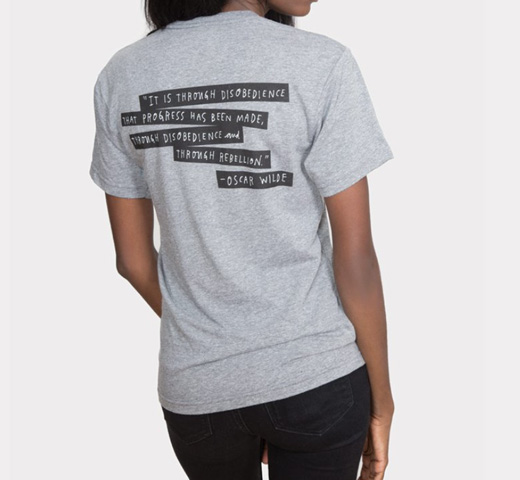 [Out of Print] Punk Rock Authors Tee (Heather Grey)