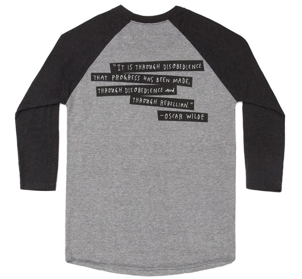 【Out of Print】 Punk Rock Authors Raglan Sleeve Tee (Heather Grey / Black)