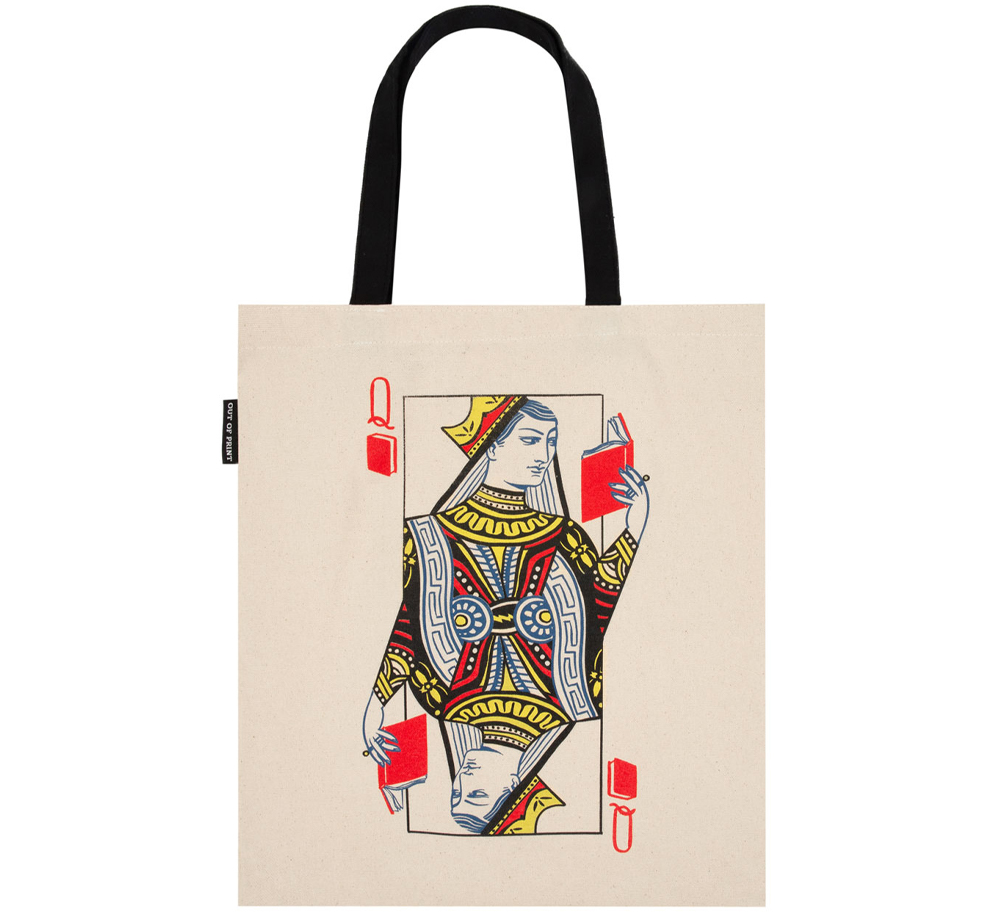 [Out of Print] Queen of Books Tote Bag