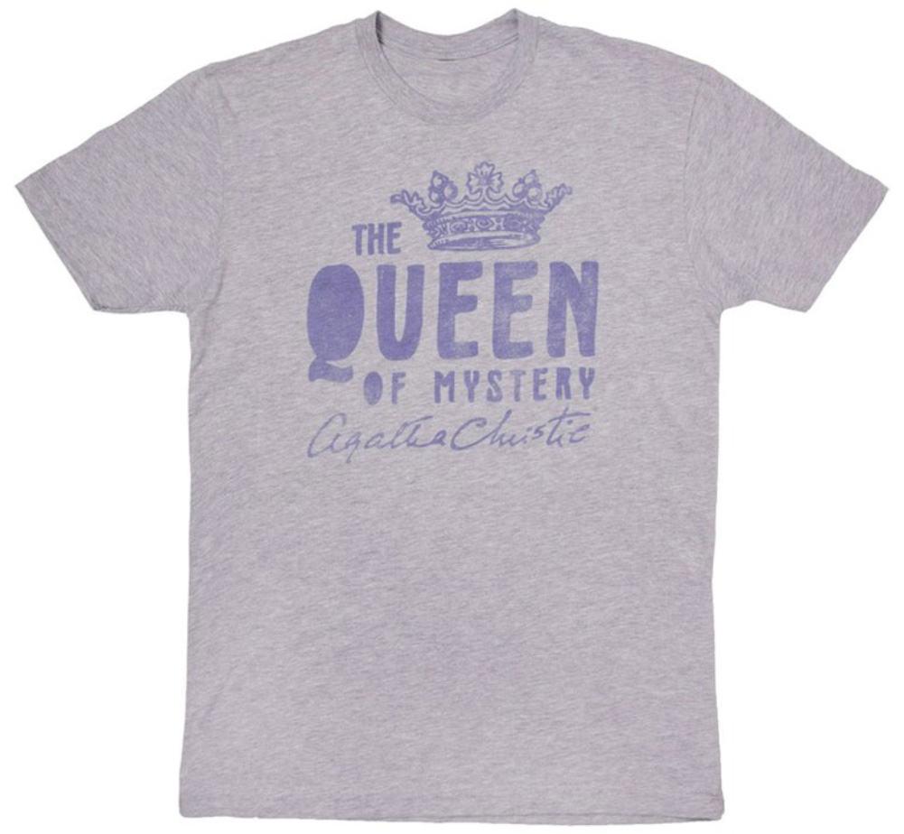 【Out of Print】 Agatha Christie [The Queen of Mystery] Tee (Heather Grey)