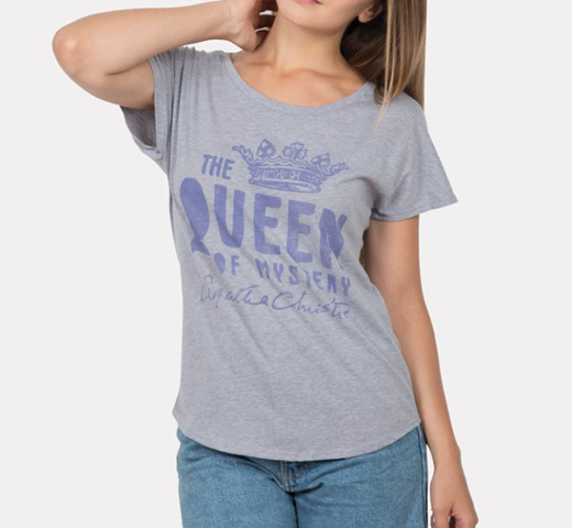 【Out of Print】 Agatha Christie [The Queen of Mystery] Dolman Tee (Heather Grey) (Womens)