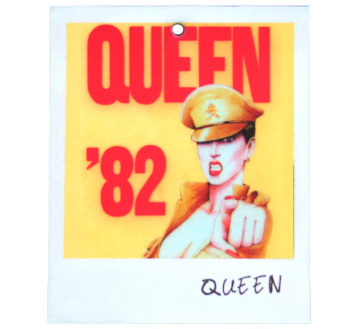【Worn By】 Queen / Crew Laminate from 1982 Tour Tee (White)