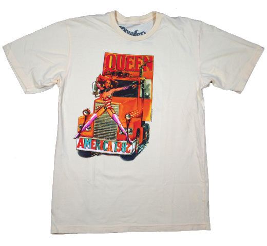 【Worn Free】 Queen / America 1982 Tee (Light Yellow)