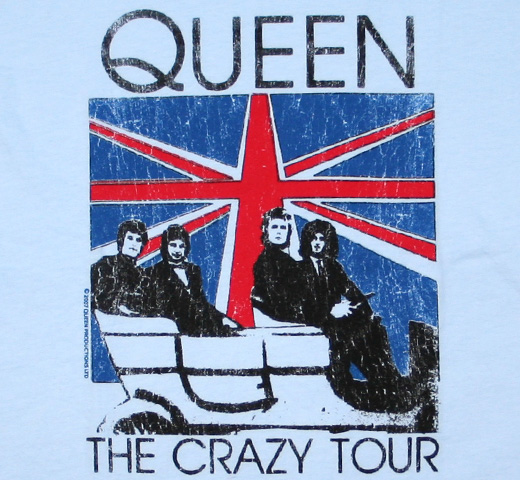 【Worn Free】 Queen / The Crazy Tour Tee