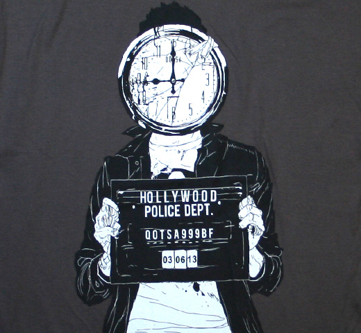 Queens of the Stone Age / Mugshot Tee (Charcoal)