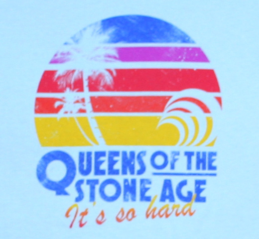 Queens of the Stone Age / Hard Sunset Tee (Sky Blue) (Womens)