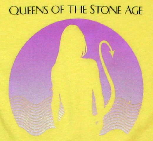 Queens of the Stone Age / Succubus Tee (Yellow) (Womens)
