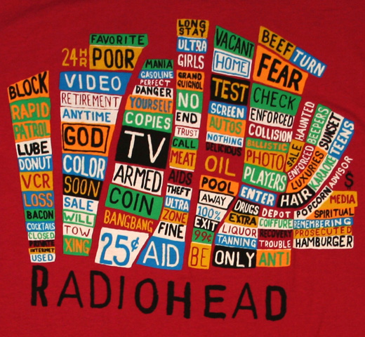 Radiohead / Pacific Coast Tee 2 (Red)