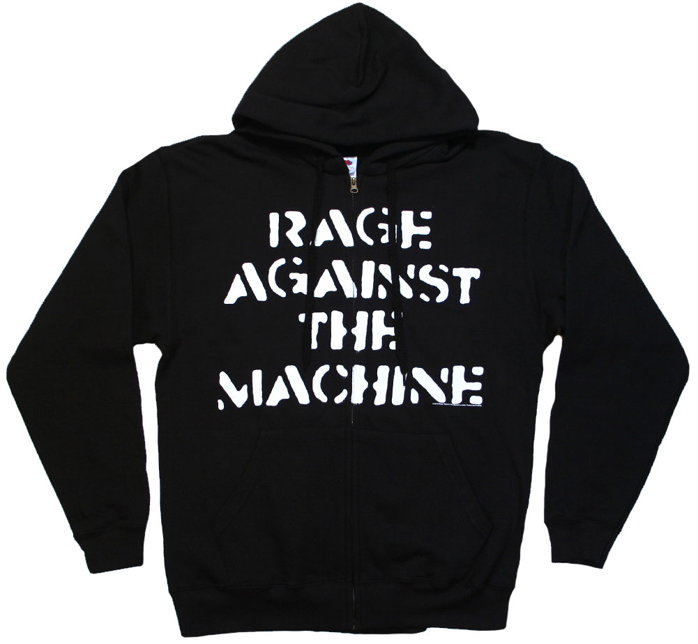 Rage Against The Machine / Large Fist Zip Hoodie (Black)