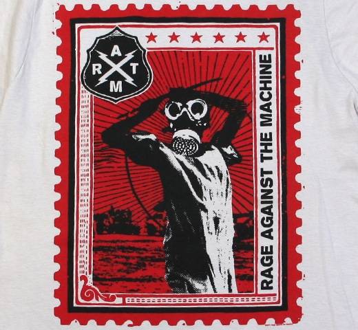 Rage Against The Machine / Postage Stamp Tee (Silver)