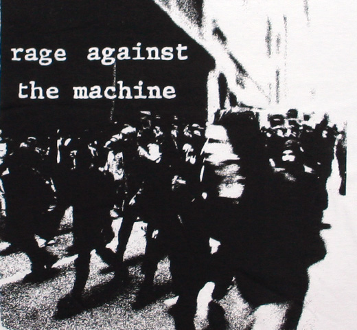 Rage Against The Machine / Riot Tee (White)