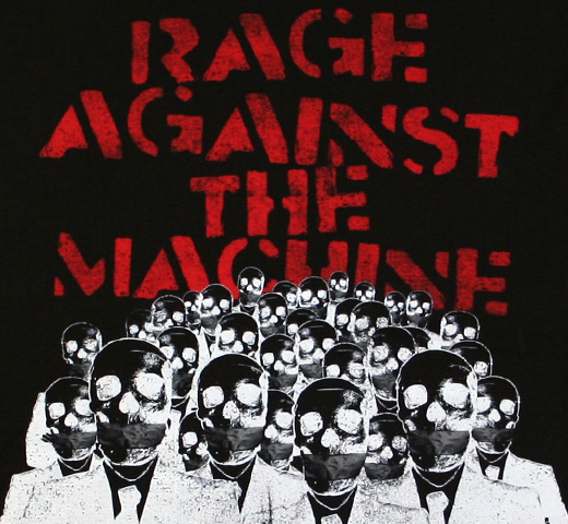 Rage Against The Machine / Skeleton Hands Tee (Black)