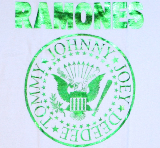 【Amplified】 Ramones / Green Foil Tee (White) (Womens)