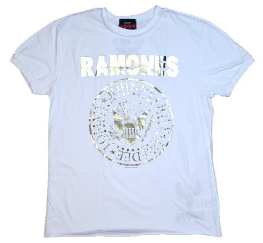 【Amplified】 Ramones / Silver Foil Tee (White)