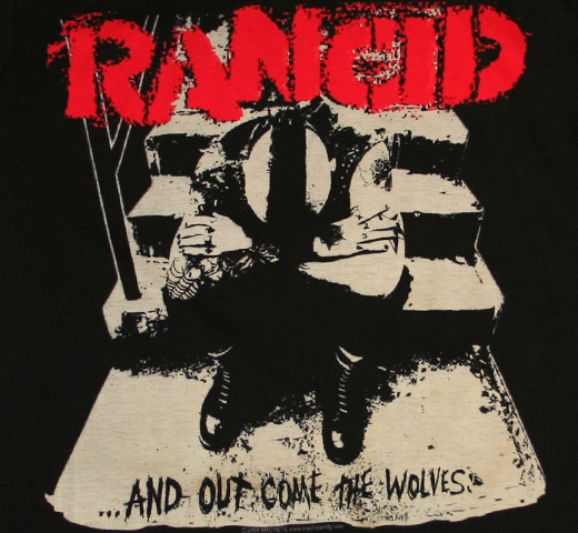 Rancid / ...And Out Come The Wolves Fitted Tee