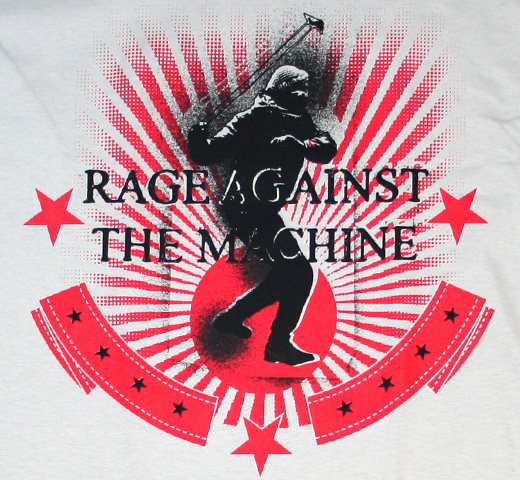 Rage Against The Machine / Stone Thrower Redux Tee (Sand)