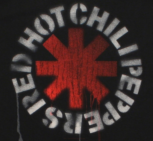 Red Hot Chili Peppers / Stencil Asterisk Tee (Black)