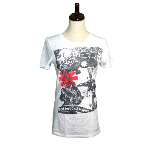 Red Hot Chili Peppers / Danis Dream Tee (Burnout White) (Womens)