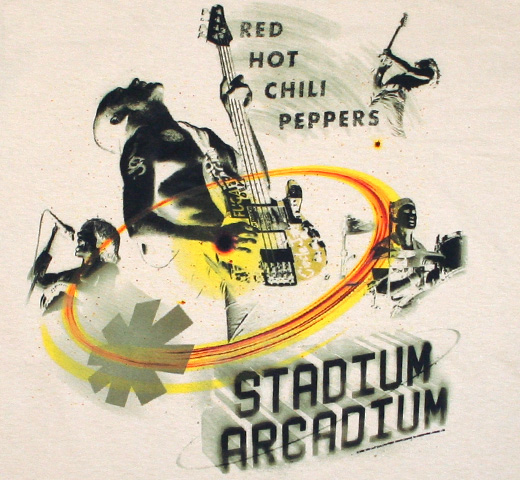 Red Hot Chili Peppers / Faded Band Logo Tee