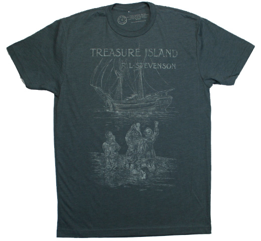 【Out of Print】 R. L. Stevenson / Treasure Island Tee (Indigo)