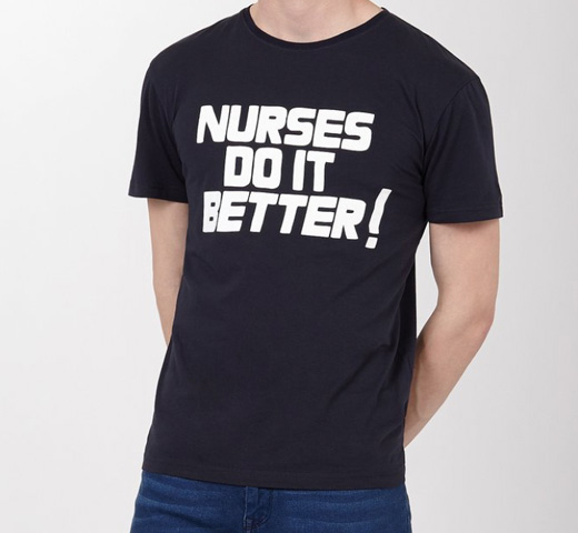 【Worn By】 Robert Plant / Nurses Do It Better Tee 2 (Navy)