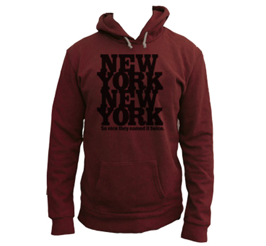 【Worn Free】 Rod Stewart / New York New York Hoodie (Red)