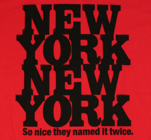 【Worn Free】 Rod Stewart / New York New York Tee (Red)