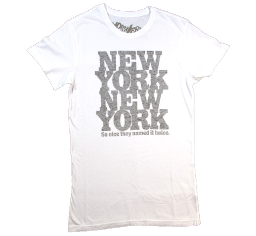 【Worn Free】 Rod Stewart / New York New York Tee (White)