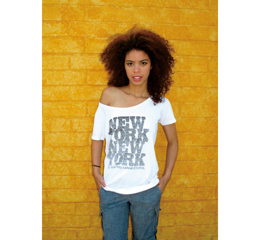 【Worn Free】 Rod Stewart / New York New York Scoop Neck Tee (White) (Womens)