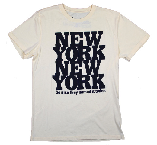 【Worn Free】 Rod Stewart / New York New York Tee (Light Yellow)