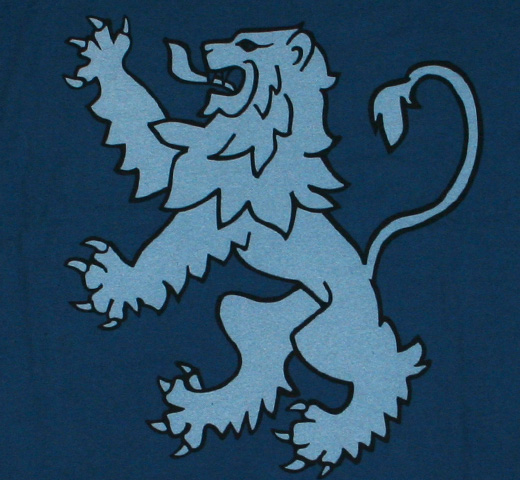 【Worn Free】 Rod Stewart / Scot Lion Tee (Royal)