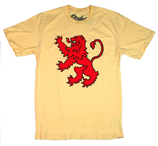 【Worn Free】 Rod Stewart / Scot Lion Tee (Yellow)