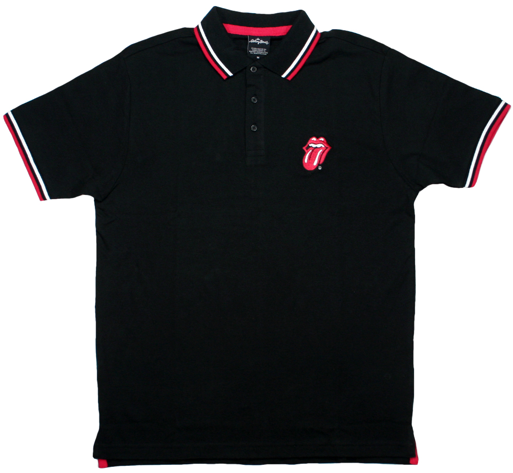 The Rolling Stones / Tongue Polo Shirt (Black)